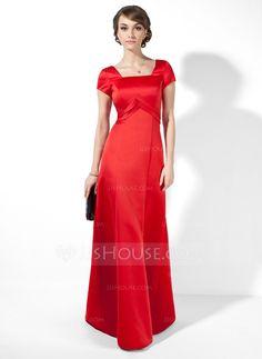 Evening Dresses - $126.99 - A-Line/Princess Square Neckline Floor-Length Satin Evening Dress With Ruffle (017039555) http://jjshouse.com/A-Line-Princess-Square-Neckline-Floor-Length-Satin-Evening-Dress-With-Ruffle-017039555-g39555