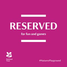 #NaturesPlayground #NationalTrust