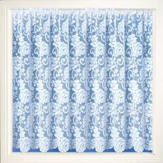 Traditional Net Curtain Fabric has slotted top to fit on a net rod or wire. Net Curtains, Curtain Fabric, Soft Furnishings, 30 Degrees, Pattern, Fabrics, Drop, Floral, Insulated Curtains