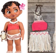 Disney's Baby Moana Outfit Baby Moana Costume First by HiCoCrochet