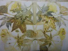eco-printing on watercolor