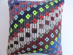 "Hand Made Turkish Kilim Rug Pillow Cover 16"" X 16"" #Turkish"
