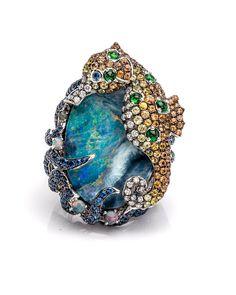 Image of Wendy Yue Seahorse Opal Ring Opal Jewelry, I Love Jewelry, Jewelry Art, Antique Jewelry, Vintage Jewelry, Fine Jewelry, Gothic Jewelry, Jewelry Rings, Jewlery