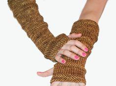 Fingerless Gloves Hand Knit  Merino Hand by Reginastimelessknits