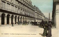 rue de Castiglione - Paris 1er La rue de Castiglione vers 1900 et ses dames élégéntes, toujours en couleurs...