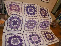 Swoon quilt--love the use of geese border around the swoon blocks
