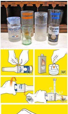 Cortar botellas de vidrio para hacer vasos de cristal es un truco que lleva existiendo desde hace años y aunque es bastante fácil cortar una botella siguiendo estas instrucciones, lograr un vaso en condiciones para beber es algo más difícil y nos llevará algo de tiempo encontrar la botella perfecta y hacer el corte a …