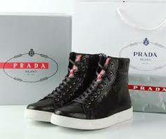 buy Prada Leather High-Top Sneakers - Google Search
