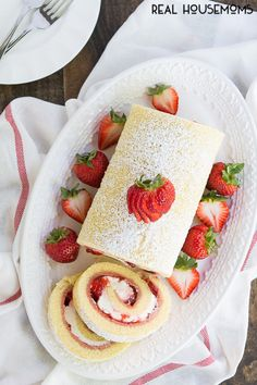Strawberries and Cream Swiss Roll | Community Post: 17 Sticky And Sweet Strawberry Treats That'll Make Your Mouth Water