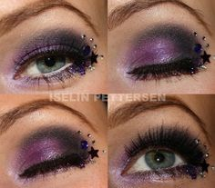 Deep purple with stars!