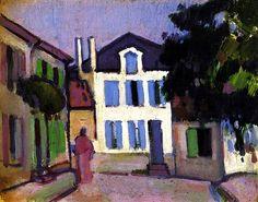 bofransson:  A Back Street in Royan John Duncan Fergusson - circa 1909