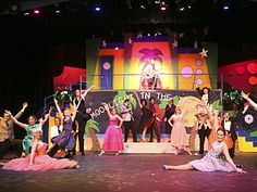 """alt Gallery """"Grease"""" Grease Broadway, Grease Musical, Grease Is The Word, Stage Set, Stage Design, Wizard Of Oz, Musical Theatre, Musicals, Singing"""