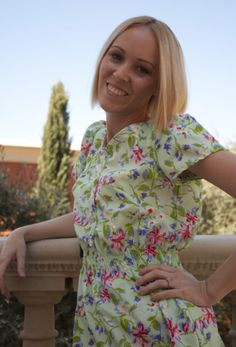a dress modified from our Most Flattering Shirt Dress - so cute!