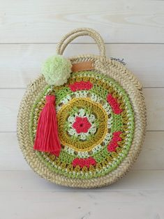 Bolso Tulasi verde Ladies Bags, Straw Bag, Clutches, Natural, Crochet Clutch Bags, Orange And Turquoise, Green And Brown, Blue Nails, Straw Handbags