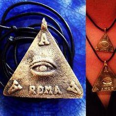 Anting Anting large TRESPICU obverse EYE of GOD talisman amulet pendant medallion medal Agimat Philippines - http://evilstyle.com/anting-anting-large-trespicu-obverse-eye-of-god-talisman-amulet-pendant-medallion-medal-agimat-philippines