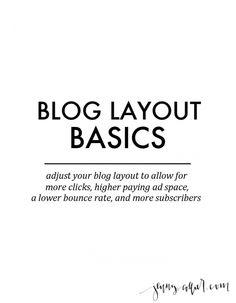 blog layout basics