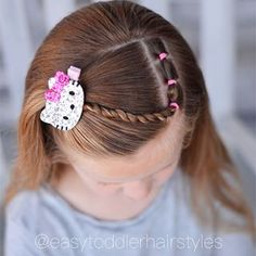 Tiffany ❤️ Hair For Littles ( Little Girl Short Hairstyles, Easy Toddler Hairstyles, Baby Girl Hairstyles, Princess Hairstyles, Cute Hairstyles, Wedding Hairstyles, Twist Braid Hairstyles, Twist Braids, Braids Easy