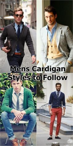 40 Most Handsome Mens Cardigan Styles to Follow