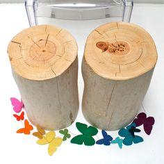 Tree Stump Sofa Table True Blonde on Etsy, $219.00