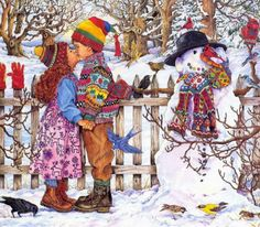 Winters kiss  by artist Wendy Edelson