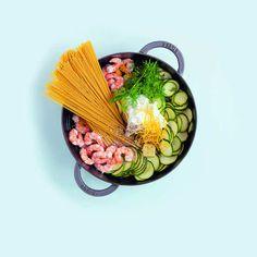 Mercredis gourmands : mon premier One Pot Pasta ou Linguine magiques aux courgettes et écrevisses #mercredisgourmands - D'UNE ILE A PARIS
