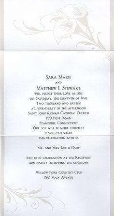 Wedding Invite Wording