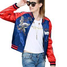 >> Click to Buy << New women baseball jacket fashion embroidery outerwear coats bomber jacket for women slim ukraine women clothing #Affiliate