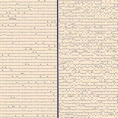 Punctuation in Blood Meridian by Cormac McCarthy (left) and in Absalom, Absalom! by William Faulkner (right).