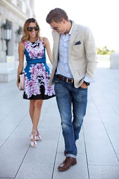 Dressy His & Hers Hello Fashion is part of Wedding attire guest - French Connection Clutch CODY'S… Wedding Guest Men, Casual Wedding, Jeans Wedding, Wedding Summer, Mode Masculine, Fashion Couple, Look Fashion, Fashion Black, Dress Fashion