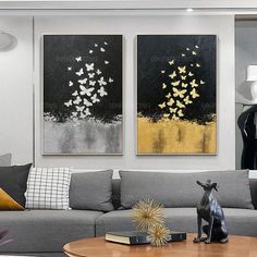 Gold Leaf and Silver leaf set of 2 wall art Abstract butterfly Paintings On Canvas original Wall pictures framed wall art cuadros abstractos Art Texture, Texture Painting, Acrylic Painting Canvas, Painting Frames, Leaf Paintings, Acrylic Art, Abstract Paintings, Painting Art, Canvas Art