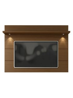 You can give you television a stylish backdrop while saving floor space with the Manhattan Comfort Cabrini TV Panel. This panel features overhead LED lights for a cozy effect, and its wide shelf provides extra storage or display space. Tv Panel, Television Stands, Mounted Tv, Find Furniture, Concrete Wall, Floor Space, Cleaning Wipes, Manhattan