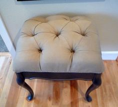 Crafty Sisters: Tufted Bench~Before and After