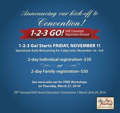 IAHE 2014 Convention 3 Day Blitz Begins November 1st!!! • #IAHEcon14
