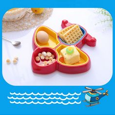 Feeding Confident Baby Cartoon Animals Feeders Children Food Plate Dishes Tableware Dining Table Food Plate Baby Feeding Supplies Excellent Quality