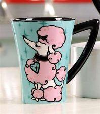 Retro - Retroflection Ceramic Mug - Pink Poodle- Tazas de cerámica hechas a mano, también en México