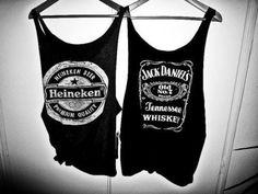 heineken and jack daniels t-shirts Jack Daniels Shirt, Estilo Jeans, Summer Outfits, Cute Outfits, Summer Clothes, Cut Clothes, Pretty Clothes, Clothes Horse, Favim