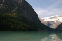 Canoeing on Lake Louise.
