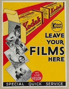 Kodak advertising for the development of dandruff. - Camera, Acmera accessories, and so on Antique Cameras, Old Cameras, Vintage Cameras, Vintage Advertisements, Vintage Ads, Vintage Posters, Vintage Stuff, Photography Camera, Vintage Photography