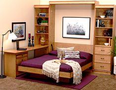 Bedroom desk built in murphy beds super Ideas Murphy Bed Desk, Murphy Bed Plans, Apartment Walls, Apartment Ideas, Modern Murphy Beds, Teen Bedding, Gray Bedding, Bedroom Desk, Desk Bed