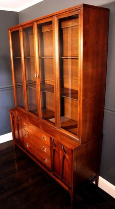 Mid Century Modern Broyhill BRASILIA Hutch or China Cabinet- This item is currently R E S E R V E D