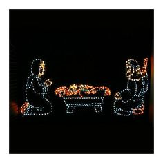 Outdoor Nativity Three-piece Set - Frontgate - Outdoor Christmas Decorations