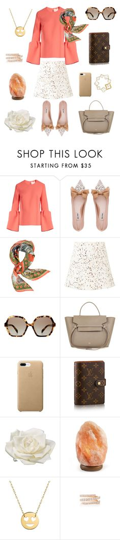 """""""One day out"""" by jhu1 ❤ liked on Polyvore featuring Roksanda, Miu Miu, Roberto Cavalli, Witchery, Prada, Van Cleef & Arpels, Allstate Floral, Jane Basch and Anita Ko"""