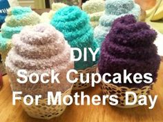 DIY Sock Cupcakes a fun way for presentation and gift wrapping