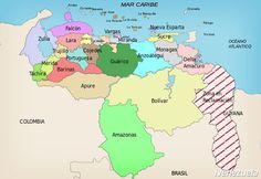 División Político Territorial de Venezuela | Mapa