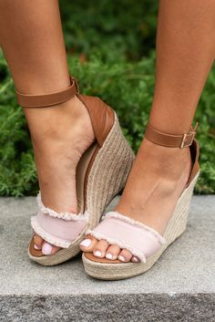 c5b24d6eb74 Never Leaving You Wedges, Blush - Never Leaving You Wedges, Blush