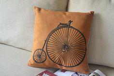 cotton linen Fabrics British style retro yellow by ILovePillow, $15.99