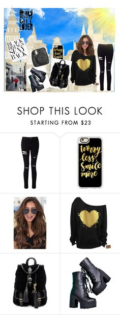 """""""sexy in black💋"""" by simplyamber04 ❤ liked on Polyvore featuring Miss Selfridge, Casetify, Yves Saint Laurent and Fujifilm"""