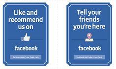 get facebook sticker your business