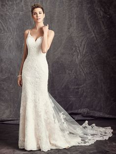 Corded Alencon Lace on Tulle over a Layer of Chantilly Lace / Satin