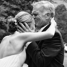 """Why We Love It:We love this sweet moment between the bride and her dad!Why You Love It:""""Great capture.""""—Nancy A. """"How amazing!"""" —KatBlu Studio """"Love this picture...so sweet."""" —Hallak Cleaners Bridal """"Miss you, Dad."""" —Ayosha S.Photo Credit: Julie A. Whitlock"""